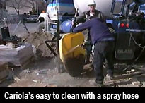 Image showing how easy it is to clean a Cariola